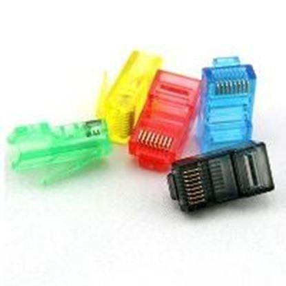 تصویر 100 عدد سوکت شبکه رنگی Cat6 Pnet