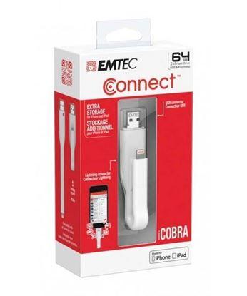 تصویر فلش مموری Emtec Icobra OTG IPHONE USB3.0 64GB