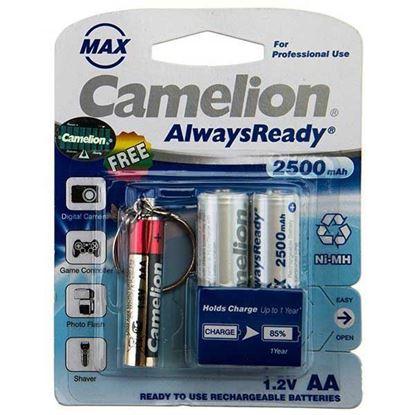 تصویر باتری قلم شارژی Camelion 2500Mah به همراه چراغ قوه
