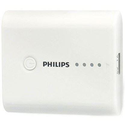 تصویر پاور بانک Philiphs   DLP5202   5200mah سفید