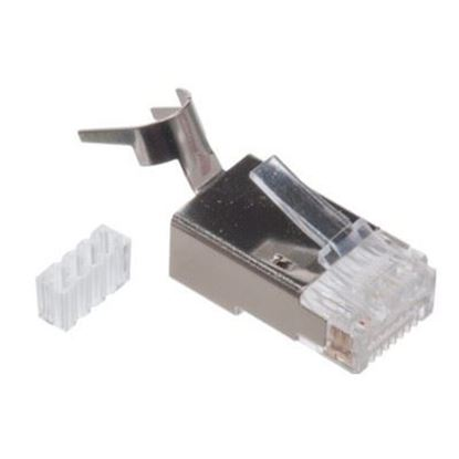 تصویر سوکت شبکه فلزی Cat7 شانه دار