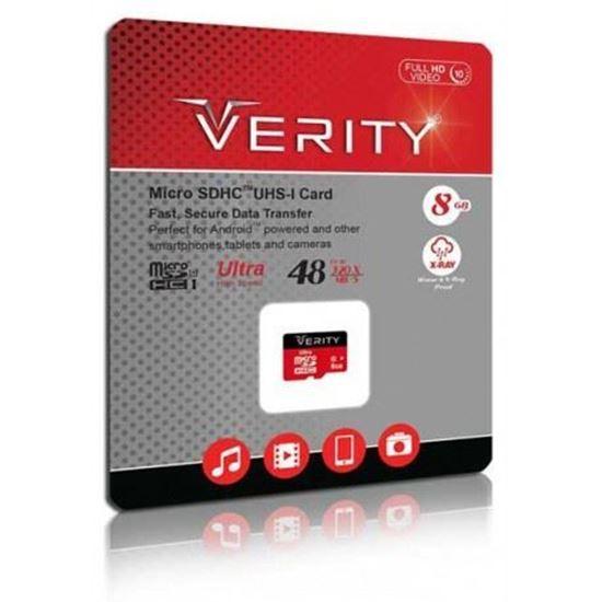 تصویر رم میکرو Verity   8G class10   48M UHS-1 بدون آداپتور