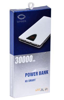 تصویر پاور بانک Spass  k6   30000mah