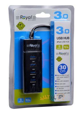 تصویر هاب  4 پورت Royal  303  USB3.0