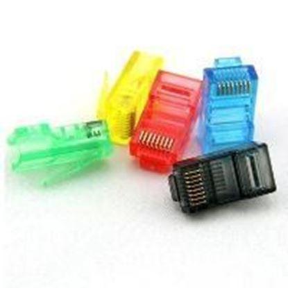 تصویر 100 عدد سوکت شبکه رنگی Cat5 Pnet