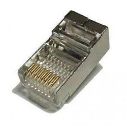 تصویر 100 عدد سوکت شبکه فلزی Cat6 PNet