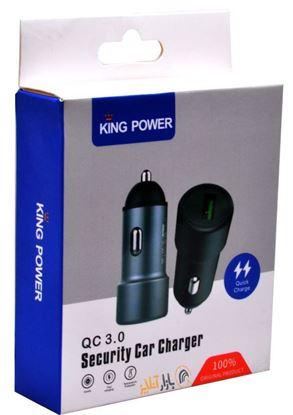 تصویر شارژر فندکی فست با کابل King Power 022 Micro USB