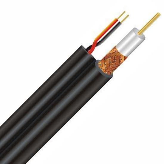 تصویر کابل کواکسیال با برق و تصویر تمام مس CCTV+POWER 100M
