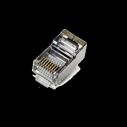 تصویر یک بسته 100 عددی سوکت شبکه  V-net Cat6 SFTP