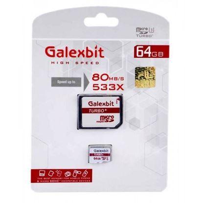 تصویر رم میکرو Galexbit  128G 80M/B class10  UHS-1 با آداپتور