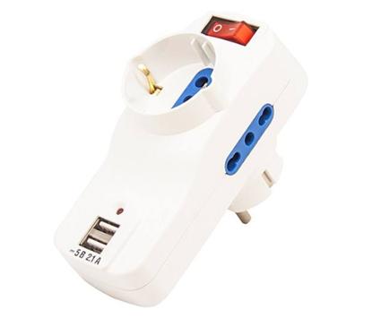 تصویر محافظ برق و هاب شارژ  TSCO TPS508
